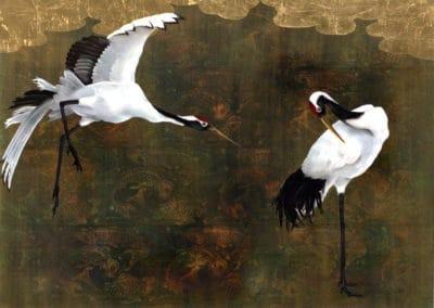 Koi and Cranes
