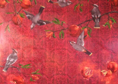 Waxwings and Pomegranates